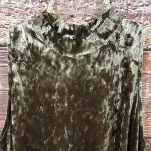 ee:some brown crushed velvet dress
